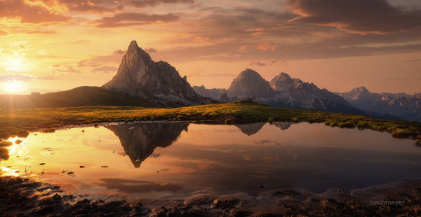 General 2000x1034 Carsten Bachmeyer landscape sky clouds cliff Dolomites (mountains) sunlight water nature reflection